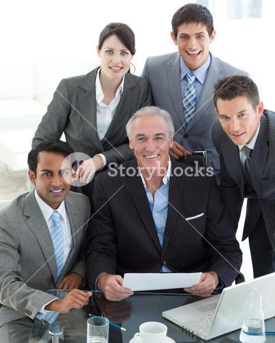 Portrait of a business group showing diversity