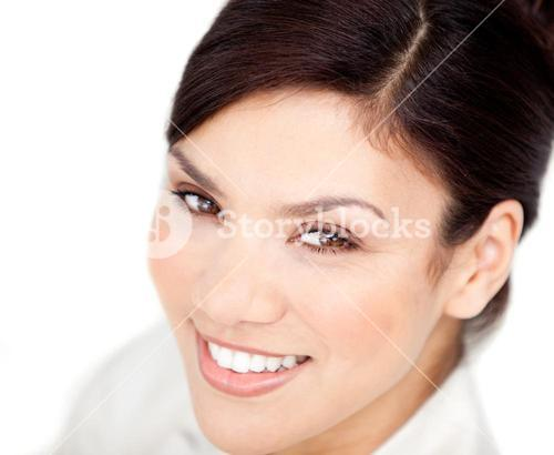 Portrait of a bright businesswoman smiling at the camera