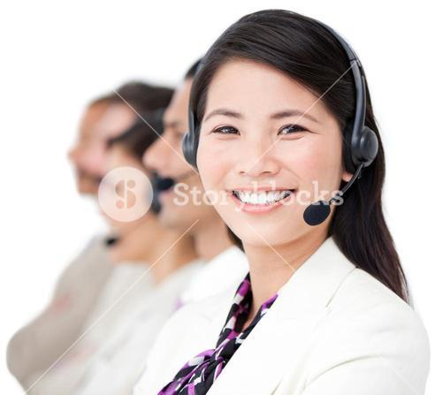 Sales representative business team working