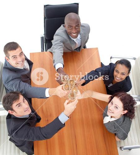Business team celebrating an event