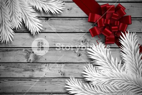 Composite image of digitally generated fir tree branches
