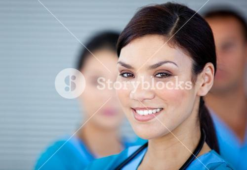 Portrait of a charismatic female doctor looking at the camera
