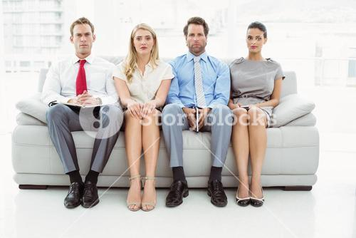 Portrait of executives waiting for interview