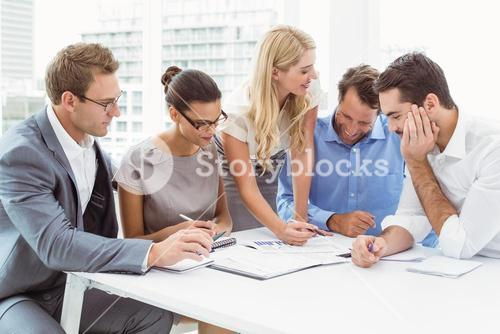 Executives in meeting at office