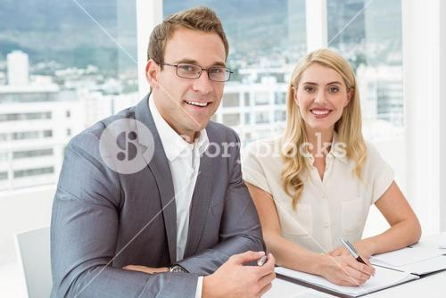 Portrait of business people in meeting