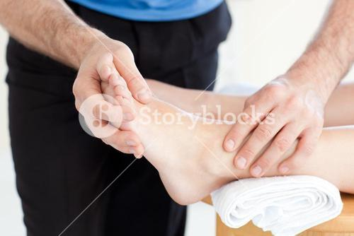 Close up of a Woman having a foot massage