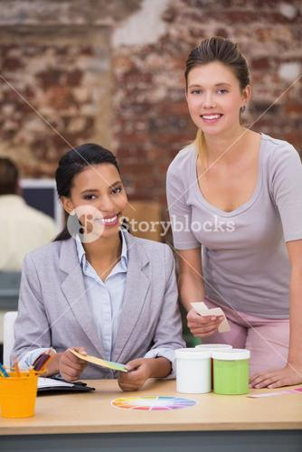 Female business colleagues in office
