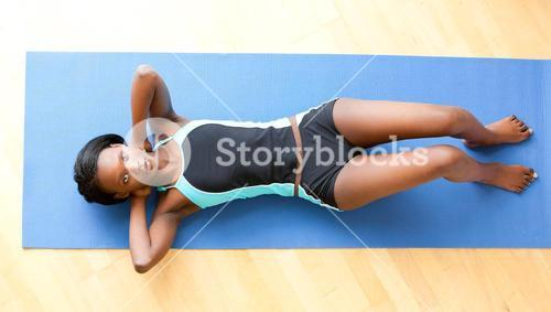 Musular woman doing fitness