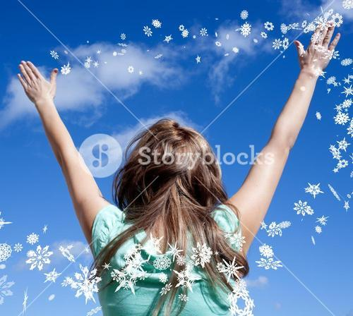Relaxed woman punching the air outdoor