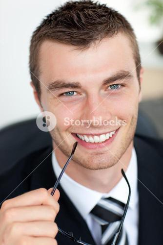 Goodlooking businessman with glasses