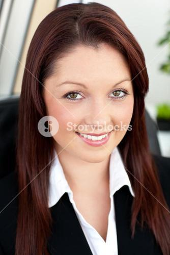 Charismatic businesswoman smiling at the camera