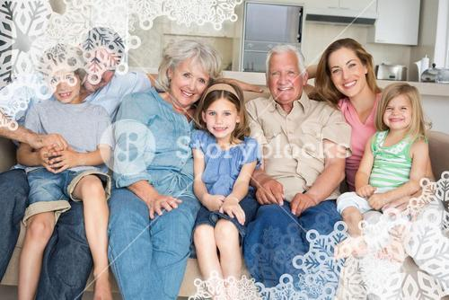 Composite image of family spending leisure time