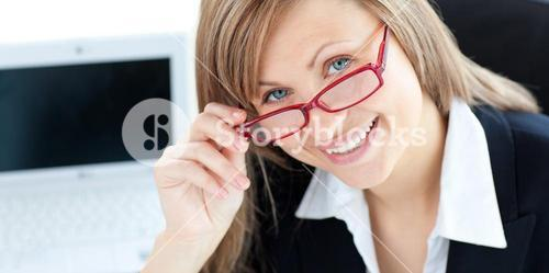 Charming businesswoman smiling at the camera