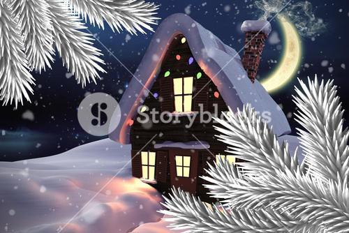 Composite image of christmas house