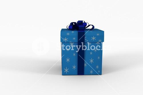 Blue and silver gift box