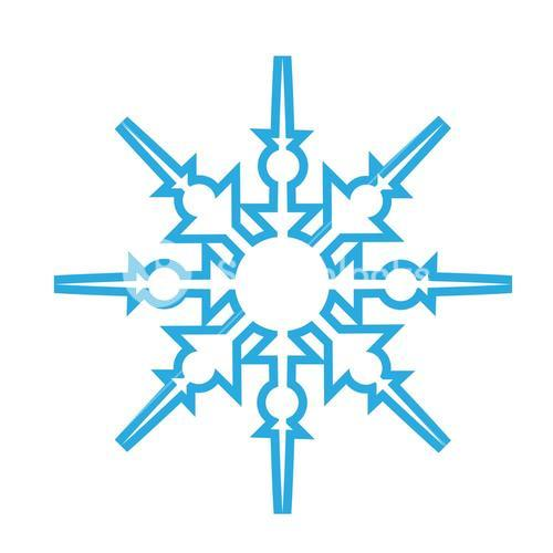 Delicate digital blue snowflake design
