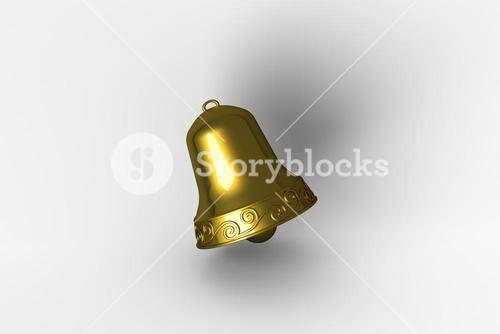 Digitally generated golden christmas bell