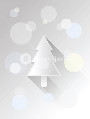Christmas tree vector with circles