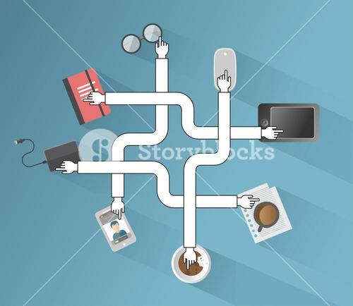 Business applications and icons vector