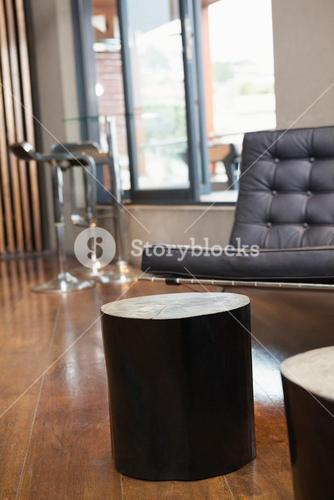 Close up of tables and sofa