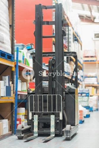Close up of forklift machine