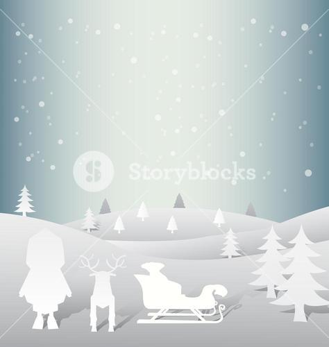 Christmas vector with cute characters
