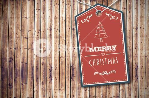 Composite image of merry christmas banner