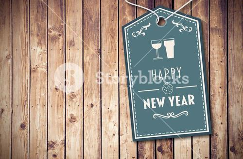 Composite image of banner saying happy new year