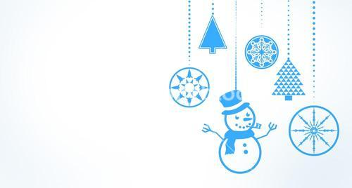 Hanging christmas decorations with copy space