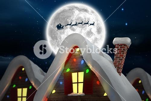 Composite image of cute christmas village