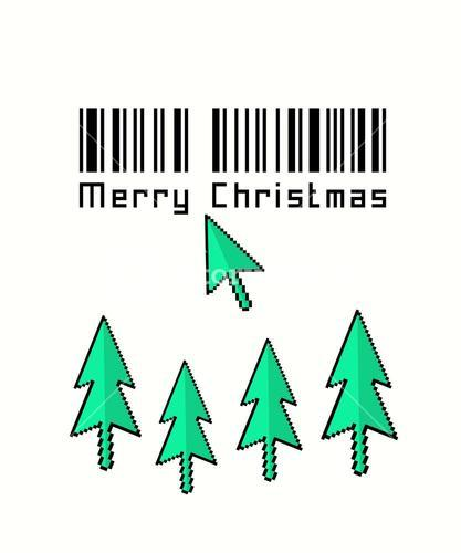 Merry christmas vector in retro video game style