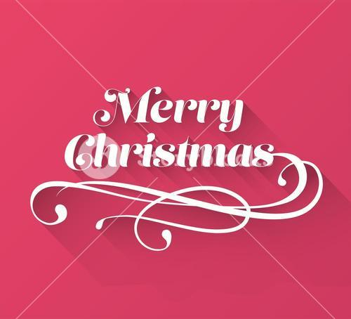 Merry christmas cursive message vector