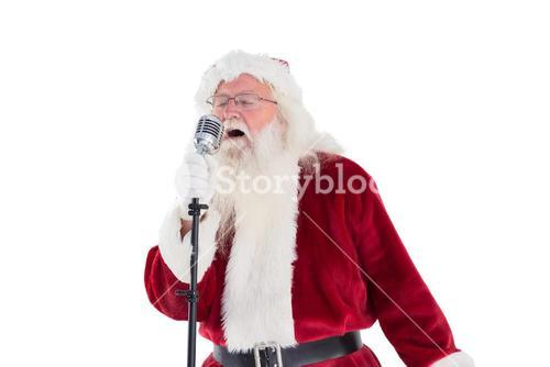Santa Claus is singing Christmas songs