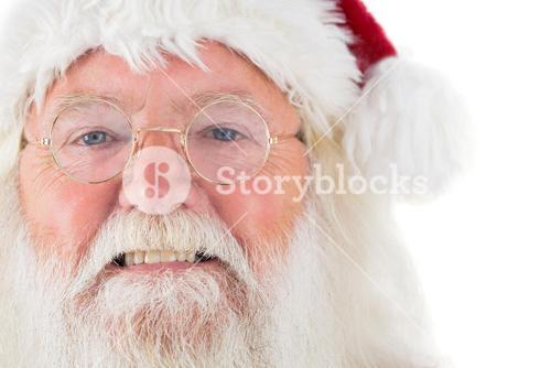 Santa Claus is watching happy