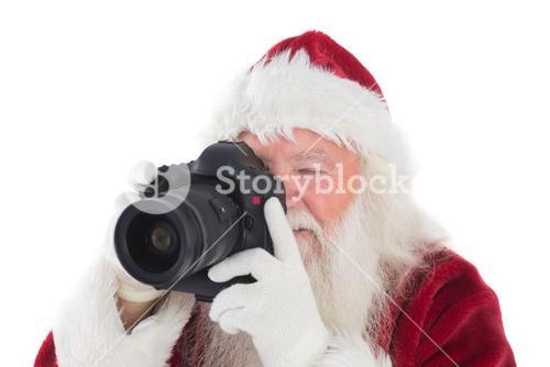 Santa is taking a picture