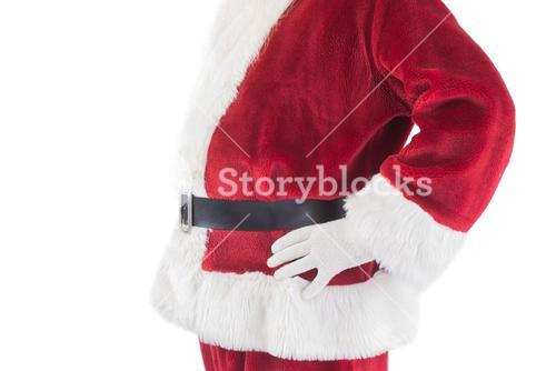 Santa Claus belly from the side