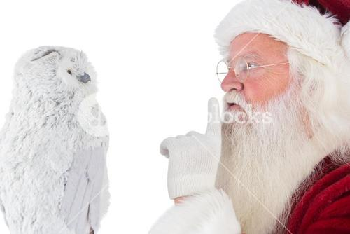 Father Christmas asks for quiet