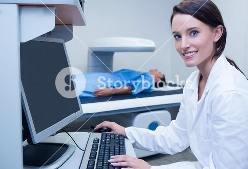 Portrait of a smiling doctor in radiography room