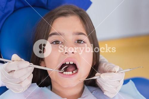 Portrait of a young patient in dental examination