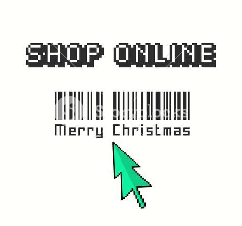 Shop online for christmas vector