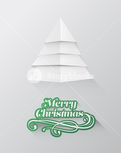 Christmas greeting message with tree design