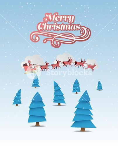 Merry christmas vector with cute illustrations
