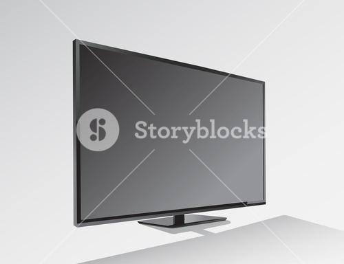Big black blank screen vector