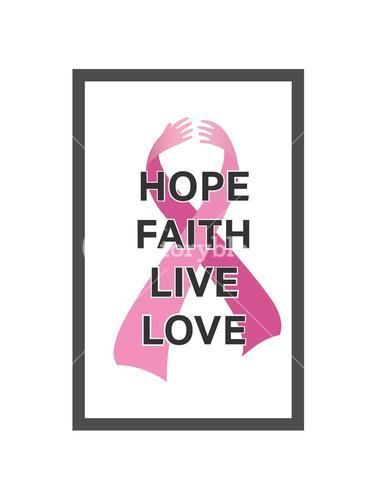 Breast cancer awareness vector with text