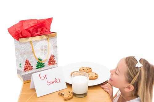Milk and cookies left out for santa