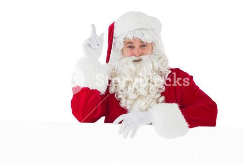Smiling santa claus doing a gesture