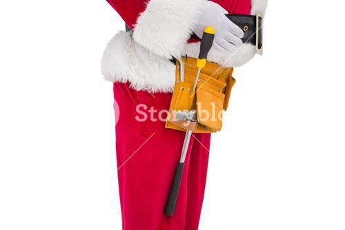Santa claus with tool belt
