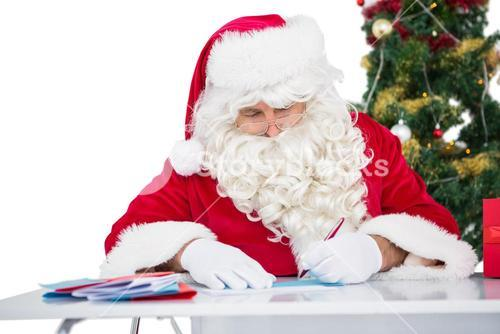 Father christmas writing letters