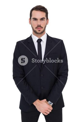 Portrait of a businessman with his hands joined