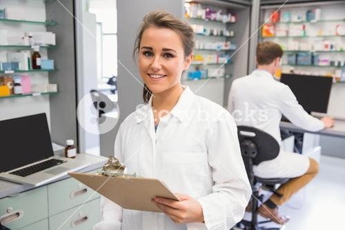 Pharmacy intern smiling at camera